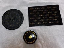 Lacquered Trays & Coasters from Miramar in Okinawa, Japan