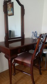 Table set (chair & mahogany mirror) in Ramstein, Germany