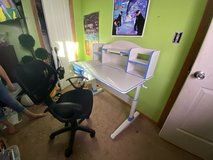 Kids Adjustable desk & Office Chair in Alamogordo, New Mexico