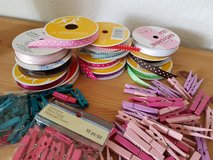 Ribbons (some used) and craft pins in Ramstein, Germany