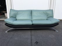 Designer Leather large 2seater sofa (reduced) in Wiesbaden, GE