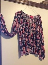Reduced... JENNIFER LOPEZ ROSE COLORED GAUZY BLOUSE / TOP SIZE LARGE in Plainfield, Illinois