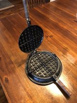 Vintage Cast Iron Waffle Makers in Okinawa, Japan