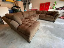 Large brown sectional couch in Batavia, Illinois
