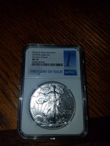Silver Eagle MS 70 First Day of Issue in Fort Campbell, Kentucky