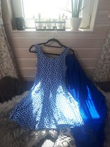 beautiful blue summerdress and scarf for sale in Ramstein, Germany