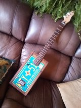 custom made 4 string license plate guitar in Alamogordo, New Mexico