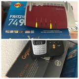 Fritz!Box 7490 Wireless Router and a GigaSet C430A Duo Dual Wireless House Phone Set in Grafenwoehr, GE