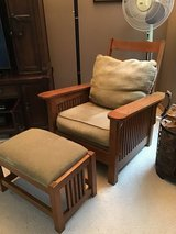 Mission style chair and ottoman in Naperville, Illinois