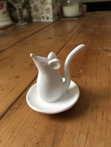 White Mouse Ring Holder in Lakenheath, UK