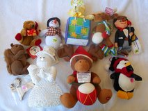 Xmas Items , Knitted Snowman, Singing Reindeer BOX 99B in Alamogordo, New Mexico