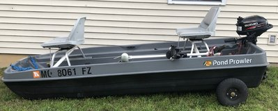 2012 Pond Prowler & 2.5 hp (4) Stroke Suzuki in Fort Leonard Wood, Missouri