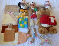 Xmas Items - Porcelain Figurines, Bear, Penquin, Singing Bulldog BOX 99D in Alamogordo, New Mexico