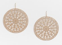 New Gold Cutout Circle Drop Earrings, by Maurices in Fort Campbell, Kentucky