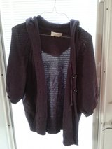 Sonoma purple cardigan large in Naperville, Illinois