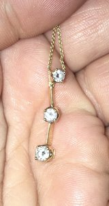 1/2 caret 14k gold pendant and 14k 22 inch chain in Fort Polk, Louisiana