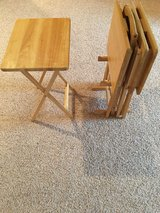 Natural Solid Wood 5pc Snack Table Set in Fort Leonard Wood, Missouri