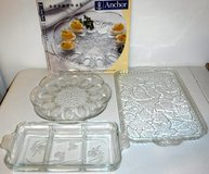 Glass Deviled Egg Platter - Divided Serving Dish & Tray in Naperville, Illinois
