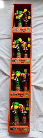 M&M Candy Fan Display in Lancaster, Pennsylvania