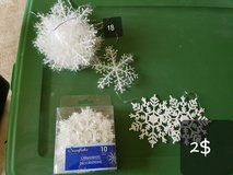 Snowflake ornaments in St. Charles, Illinois