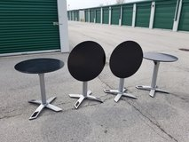 Black Cafe Table - Round (4 available) in Westmont, Illinois