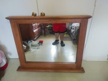 BIG MIRROR WITH REAL OAK NO SCRATCHES VERY NICE. in Lake Charles, Louisiana