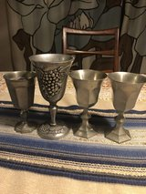 Pewter Goblets (4), Vintage in Vacaville, California
