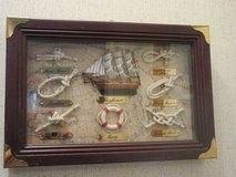 Shadow box with Mayflower and 6 knots identified (Father's Day) in Montgomery, Alabama
