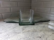 2pc decorative glass tray/dish in Plainfield, Illinois