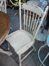 I refurbished this beautiful detailed vintage table & 4 chairs in Conroe, Texas