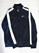 NIKE NAVY BLUE TRACK BOMBER JACKET- LINED - BRAND NEW!! in Naperville, Illinois