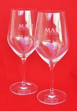 Italian glasses (2) for wine by Masi, new in Okinawa, Japan