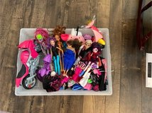 Girls Monster High and Barbie in Kingwood, Texas