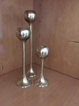 Set of 3 solid brass candle votives in Naperville, Illinois