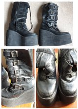 Demonia Black Platform Boots in Lakenheath, UK