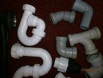 JOB LOT OF SINK PIPES AND PLUGS NEW BUT BEEN IN SHED in Lakenheath, UK