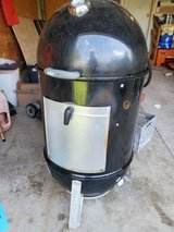 22in weber smokey mountain  smoker with cover in Morris, Illinois