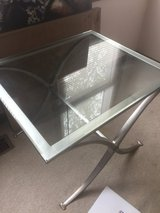 Glass end table 24X28 in Aurora, Illinois