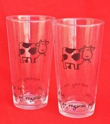 French cow glasses (2) in Okinawa, Japan