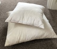 TWO FEATHER FILLED CUSHIONS FREE in Lakenheath, UK