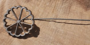 Italian vintage tool for making flower-shaped fritters in Okinawa, Japan