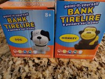 2-Paint It Yourself Animal Banks-New in Batavia, Illinois
