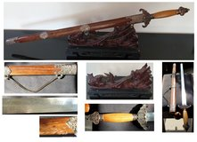 Home decoration sword on Dragon Stand (PENDING SALE) in Lakenheath, UK