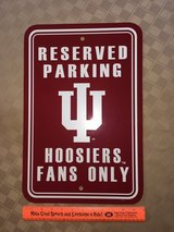 IU Hoosier Reserved Parking Sign in Plainfield, Illinois