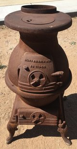 Vintage POT BELLY STOVE Sears & Roebuck & Co in Yucca Valley, California