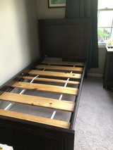 Wood bed Frame twin size in Batavia, Illinois