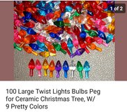 100 ceramic Christmas trees replacement bulbs in Oswego, Illinois