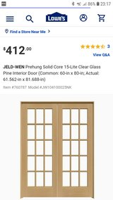 New Solid Wood French Doors 15 Pane 30 x 80 Interior Exterior in Kingwood, Texas