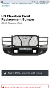 NEW Elevation Front Bumper Chevy Silverado 2014 -2017 Chevrolet 2014 2015 2016 2017 Ranch Hand S... in Kingwood, Texas