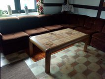 household-clearance: Corner-couch, stool, armchair and table in Ramstein, Germany